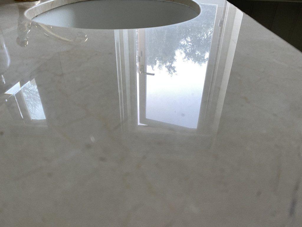 4b Travertine basin polishing restoration before and after IMG_6177
