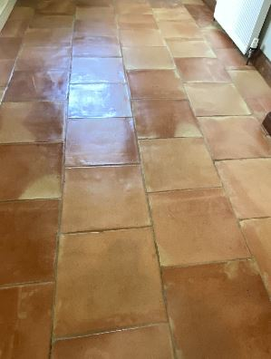 Terracotta tile cleaning results