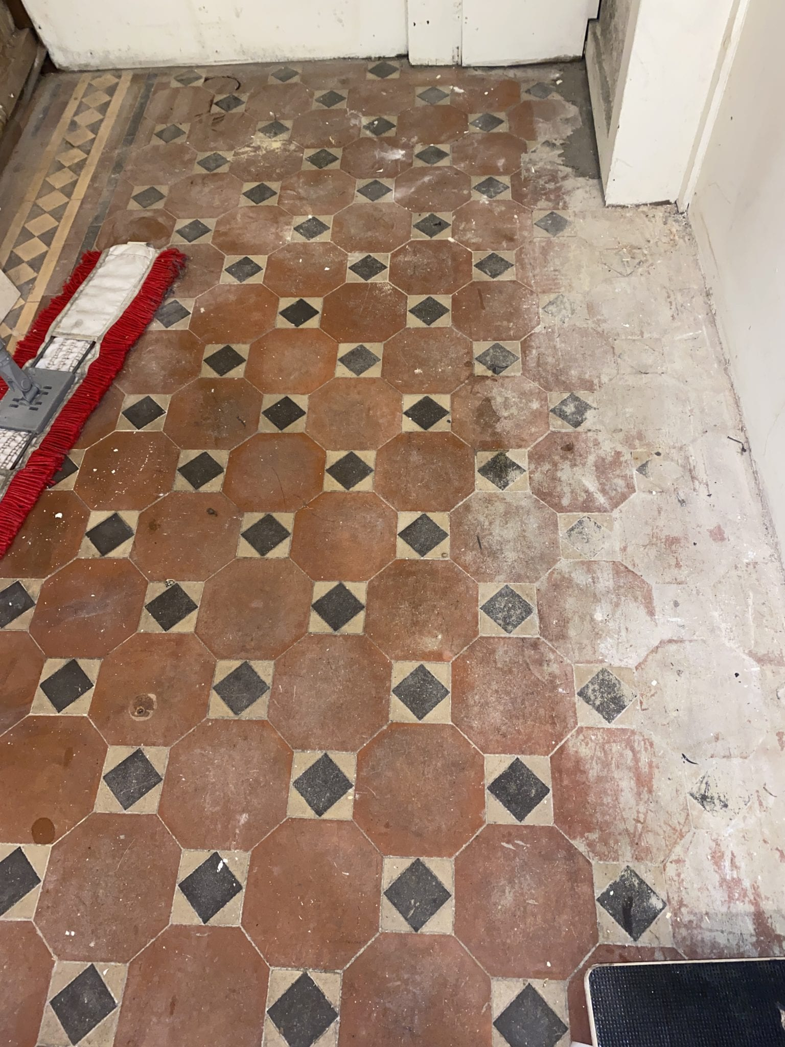 2a Removing cement and builders debris from Victorian Tile Cleaning service near me