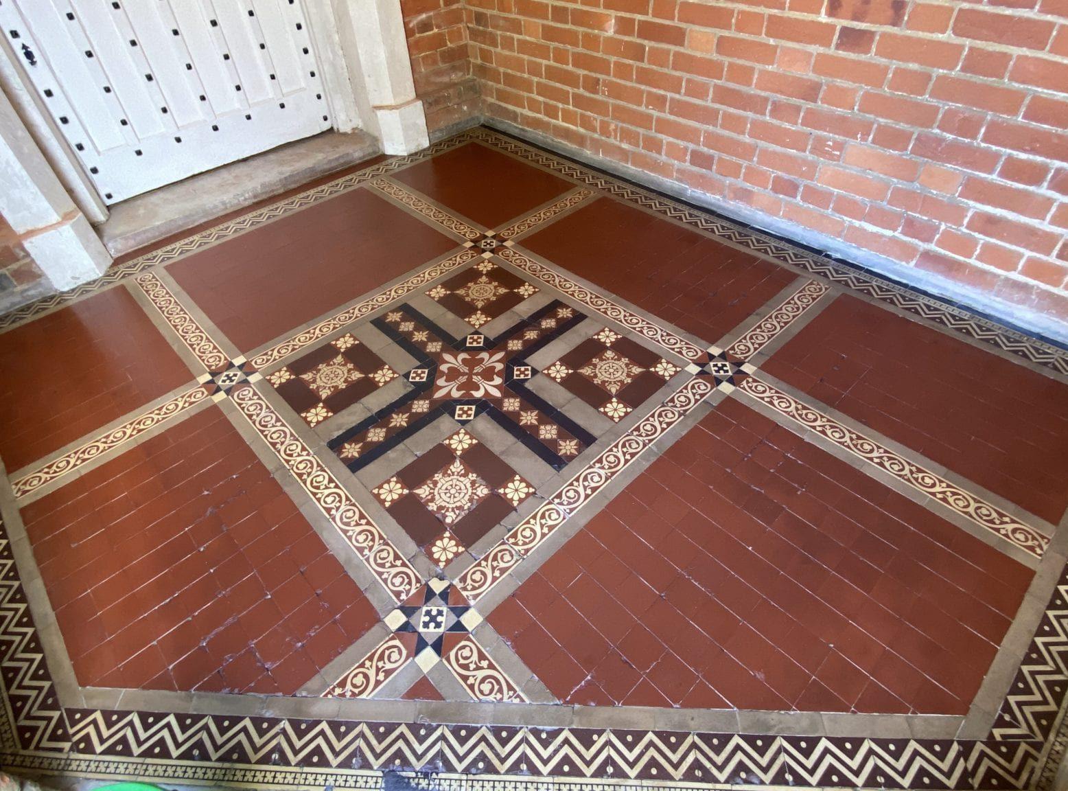 Victorian Tile restoration after picture