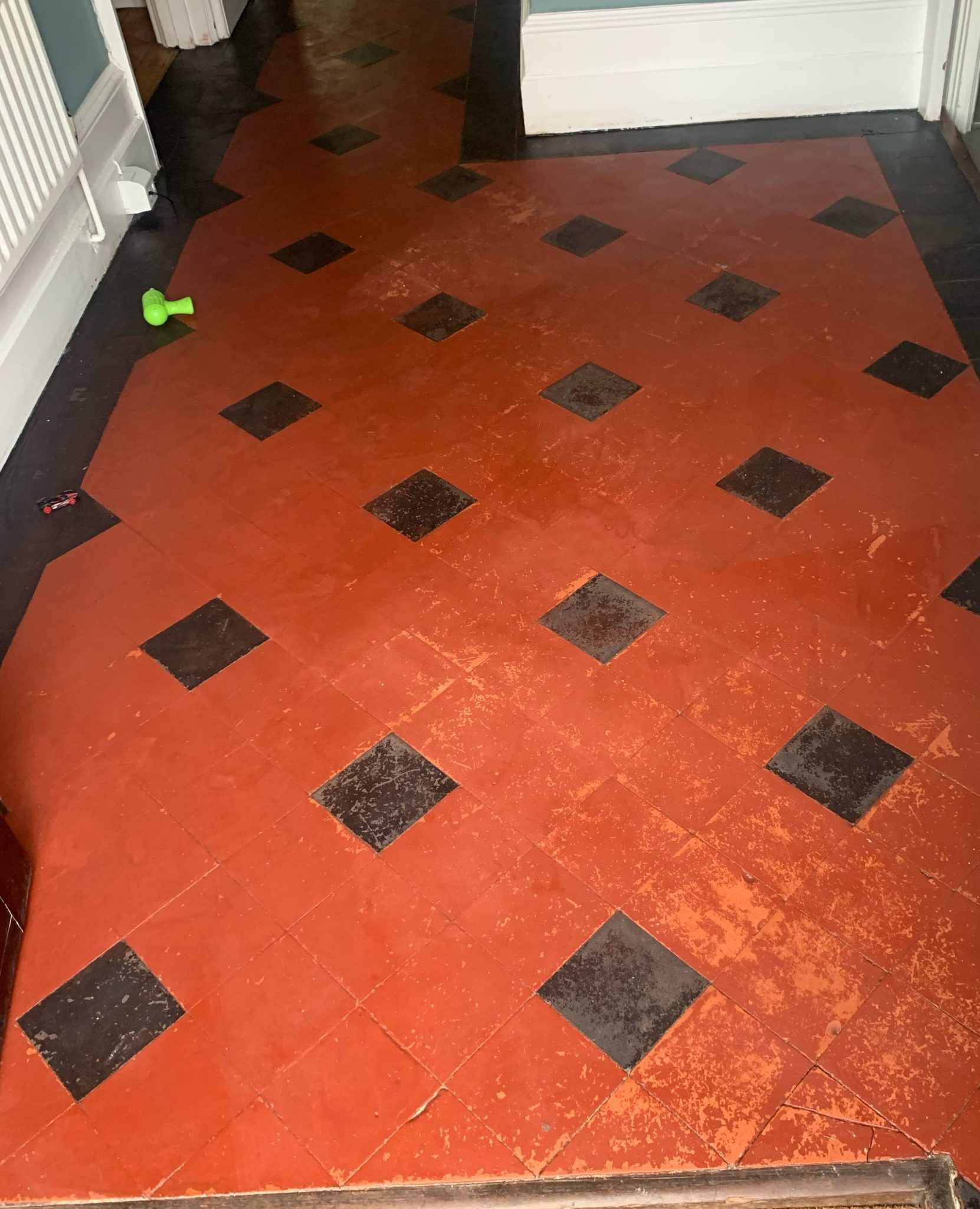 Removing paint from Victorian floor