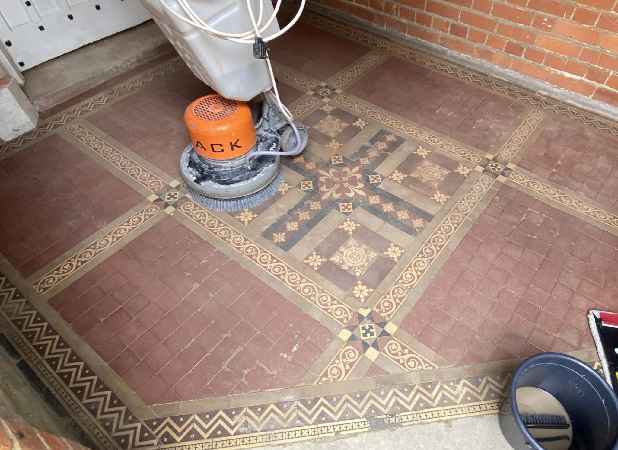 Victorian Tile restoration before and after picture
