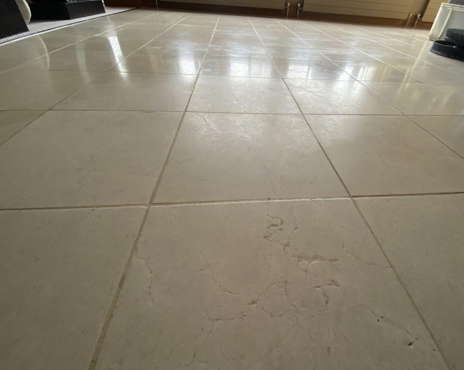 Polishing marble floors