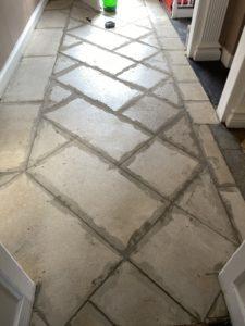 Regrouting limestone floors